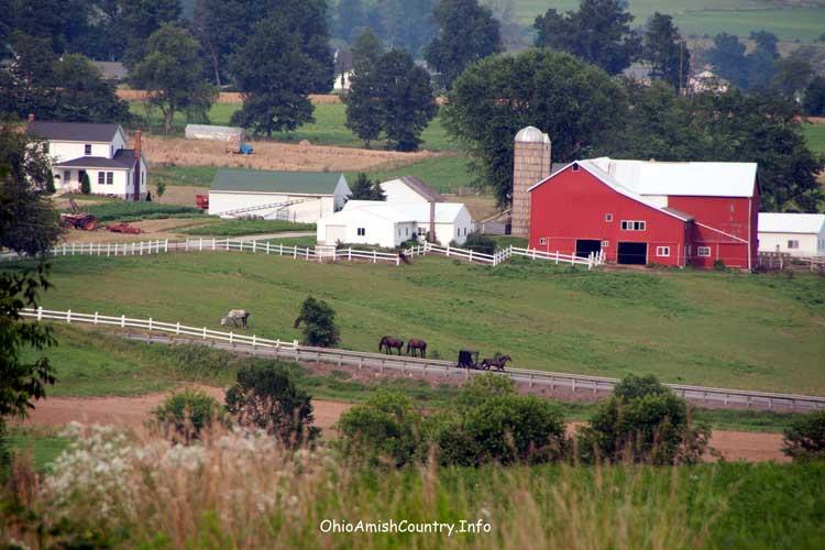 A scenic Amish Farm.